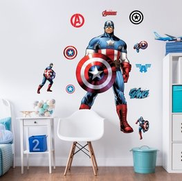 Avengers muursticker Captain America XXL