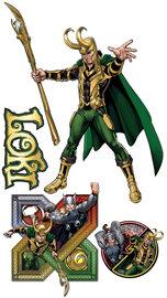 Avengers muursticker Loki XXL