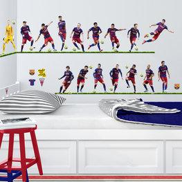 Barcelona muurstickers 16 spelers XL