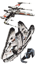 Star Wars Spaceships muurstickers XXL
