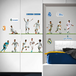 Real Madrid voetbal muurstickers 11 spelers