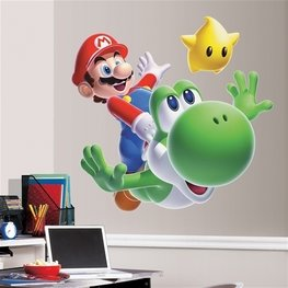 Super Mario Galaxy 2 XL muursticker