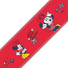 Minnie Mouse behangrand Rood