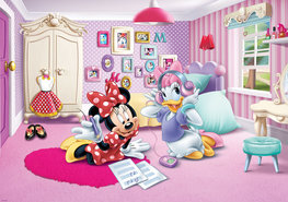Minnie Mouse en Katrien vlies fotobehang XL