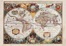 Antieke wereldkaart fotobehang XL