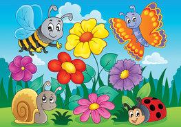 Fotobehang Dieren in de tuin