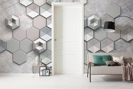 Hexagon Concrete fotobehang