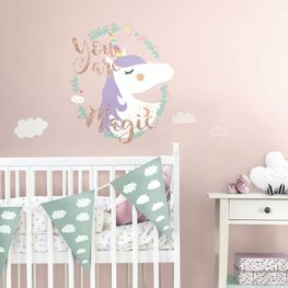 Unicorn maxi muursticker