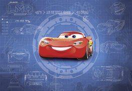 Cars 3 fotobehang Blueprint XL