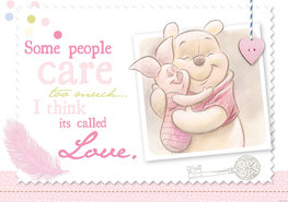 Winnie the Pooh vlies fotobehang Love