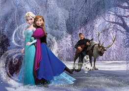 Fotobehang Frozen Anna en Elsa XXXL
