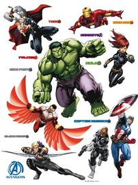Avengers muurstickers XL team