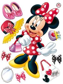 Minnie Mouse muursticker Rood XL
