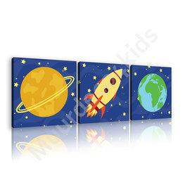 Ruimtevaart canvas set Raket
