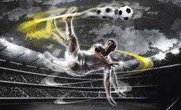 Voetbal fotobehang Voetballer L