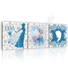 Frozen canvas 3-delige set Elsa