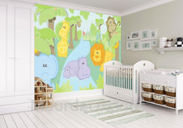 Jungle behang Babykamer Safari XL