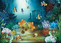 Onderwater fotobehang Goudvis
