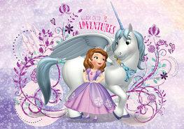 Sofia het prinsesje fotobehang Eenhoorn L