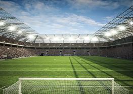 Voetbal Stadion fotobehang 4 - L