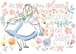 Alice in Wonderland fotobehang Aquarel