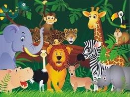 Jungle vliesbehang Dieren XL