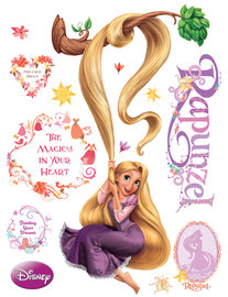 Rapunzel muursticker aan tak