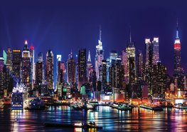 New York by night fotobehang