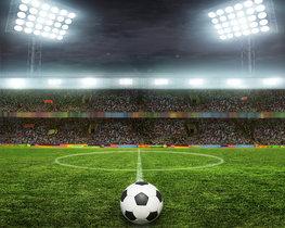 Voetbal vliesbehang Free Kick