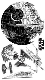 Star Wars muurstickers XXL Death Star II