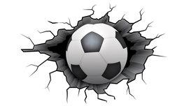 Voetbal muursticker Bal L