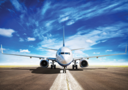 Vliegtuig fotobehang XL