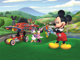 Mickey Mouse fotobehang Roadster XL