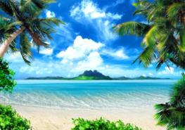 Strand fotobehang Tropical beach XL