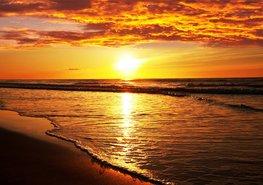 Strand fotobehang Zonsondergang XL