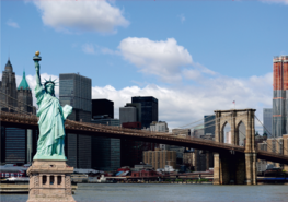 New York fotobehang Vrijheidsbeeld
