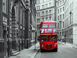 Londen fotobehang Dubbeldekker
