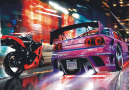 Auto fotobehang Street race
