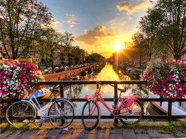 Fotobehang Amsterdamse gracht