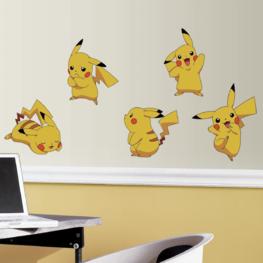 Pokémon muurstickers Pikachu