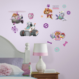 Paw Patrol muurstickers Girl Pups
