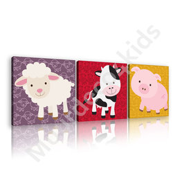 Boerderij dieren canvas