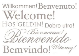 Tekst muurstickers - Welcome