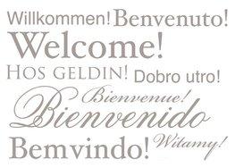 Tekst muurstickers - Welcome