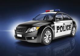 Politieauto fotobehang