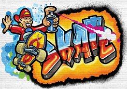 Graffiti fotobehang Skate