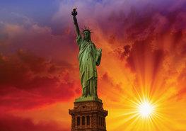 New York fotobehang Statue of Liberty