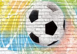 Voetbal fotobehang Graffiti