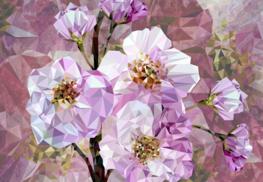 Blooming Gems bloemen fotobehang