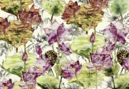 Lotus bloemen fotobehang